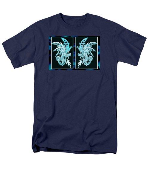 Mech Dragons Diamond Ice Crystals Men's T-Shirt  (Regular Fit)