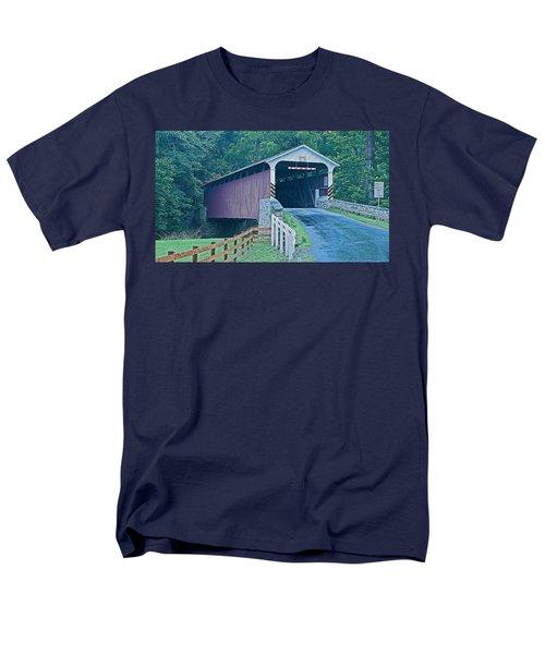 Mercer's Mill Covered Bridge Men's T-Shirt  (Regular Fit) by Michael Porchik