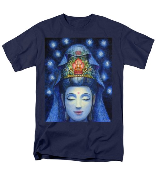 Midnight Meditation Kuan Yin Men's T-Shirt  (Regular Fit) by Sue Halstenberg