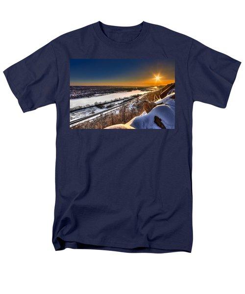 Mississippi River Sunrise Men's T-Shirt  (Regular Fit) by Tom Gort