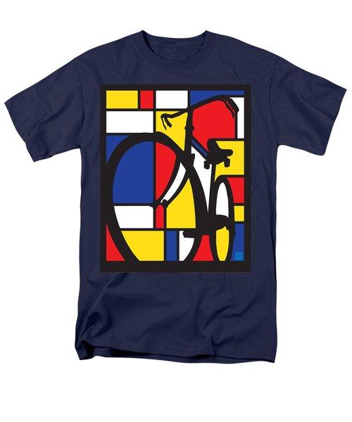 Mondrian Bike Men's T-Shirt  (Regular Fit) by Sassan Filsoof