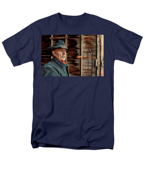 Montana Cowboy Men's T-Shirt  (Regular Fit) by Michael Pickett