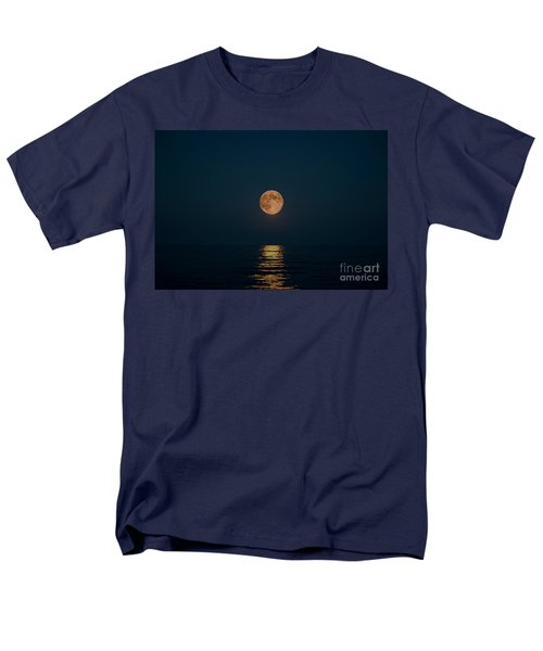 Moon Over Lake Of Shining Waters Men's T-Shirt  (Regular Fit) by Barbara McMahon