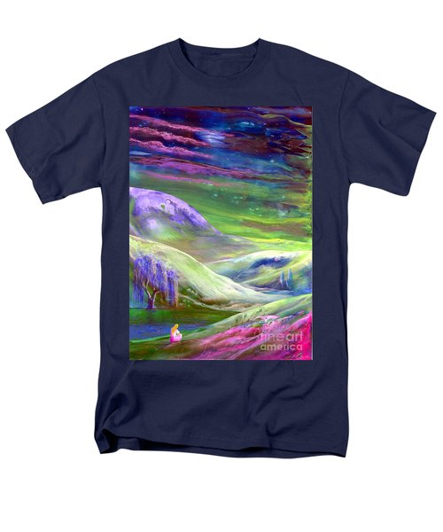 Men's T-Shirt  (Regular Fit) featuring the painting Moon Shadow by Jane Small