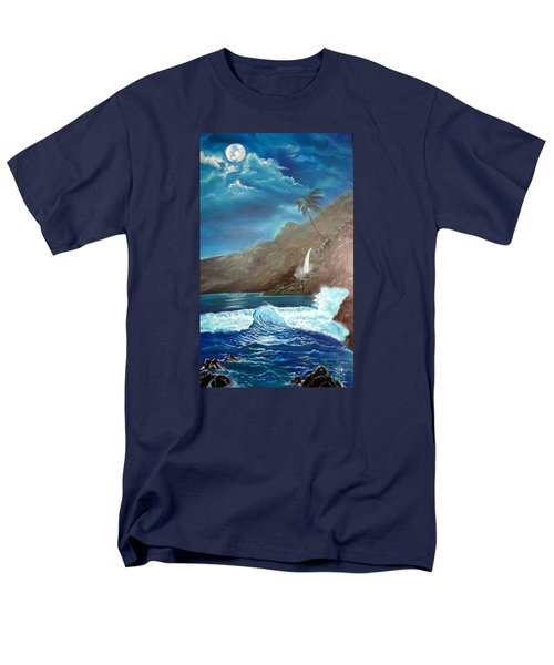 Men's T-Shirt  (Regular Fit) featuring the painting Moonlit Wave by Jenny Lee
