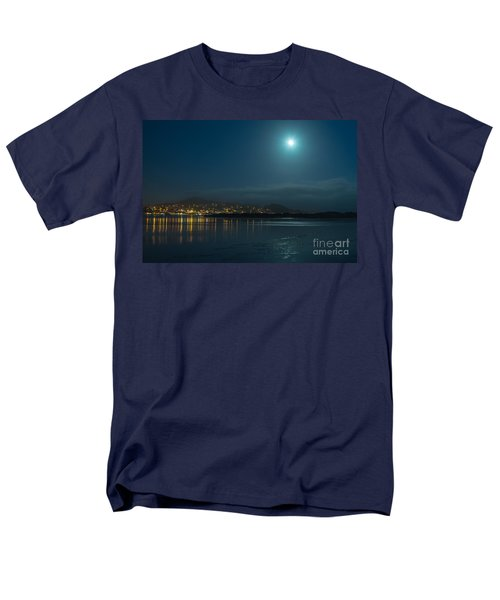 Morro Bay At Night Men's T-Shirt  (Regular Fit) by Terry Garvin