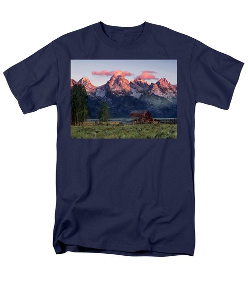Men's T-Shirt  (Regular Fit) featuring the photograph Moulton Barn by Leland D Howard
