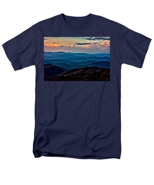 Men's T-Shirt  (Regular Fit) featuring the photograph Mount Mitchell Sunset by John Haldane