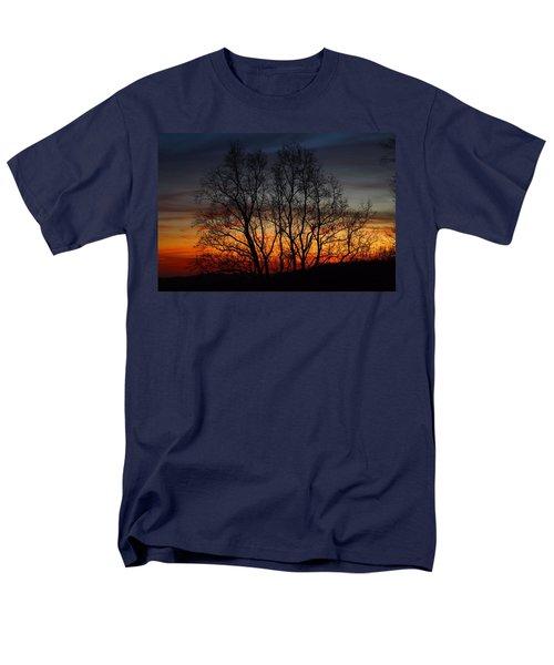 Men's T-Shirt  (Regular Fit) featuring the photograph Mountain Sunset by Kathryn Meyer
