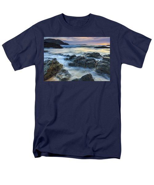 Men's T-Shirt  (Regular Fit) featuring the photograph Mourillar Beach Galicia Spain by Pablo Avanzini