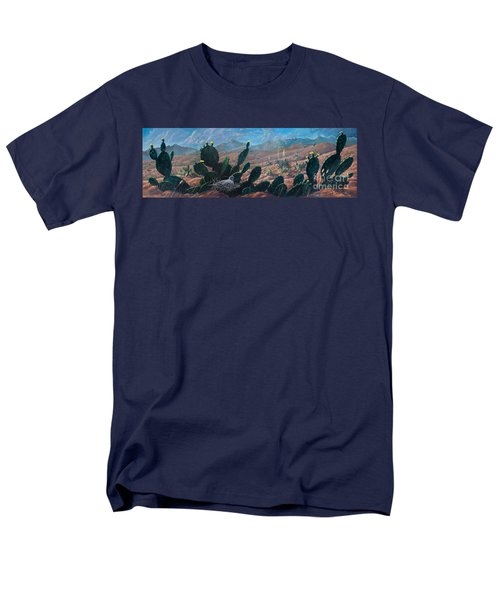 Men's T-Shirt  (Regular Fit) featuring the painting Mourning Dove Desert Sands by Rob Corsetti