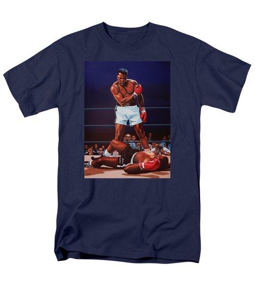 Muhammad Ali Versus Sonny Liston Men's T-Shirt  (Regular Fit) by Paul Meijering
