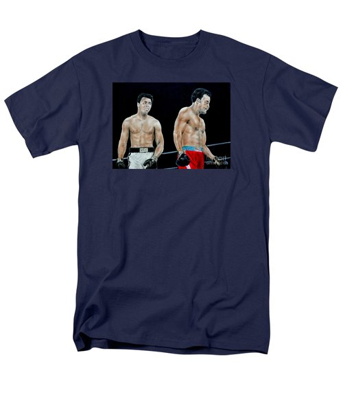 Men's T-Shirt  (Regular Fit) featuring the drawing Muhammad Ali Vs George Foreman by Jim Fitzpatrick