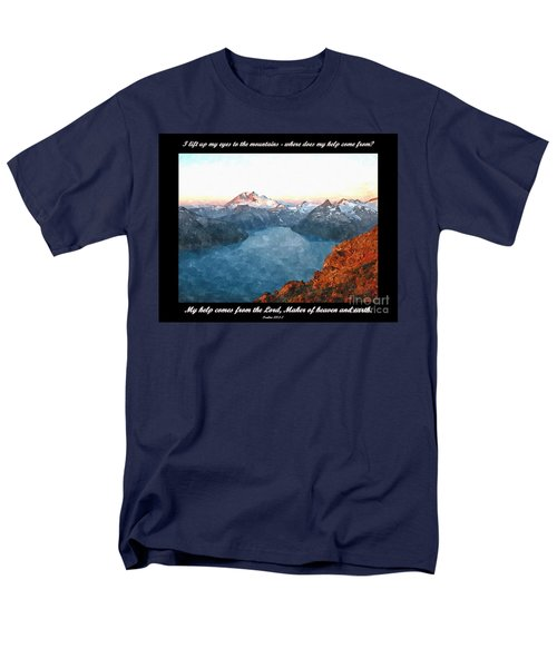 My Help Comes From The Lord Men's T-Shirt  (Regular Fit) by Sara  Raber