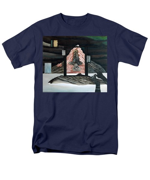 Men's T-Shirt  (Regular Fit) featuring the painting Negative Ion by Fei A