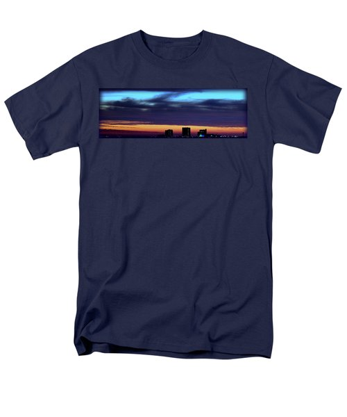 Men's T-Shirt  (Regular Fit) featuring the photograph Nightfall Over Pensacola Beach by Faith Williams