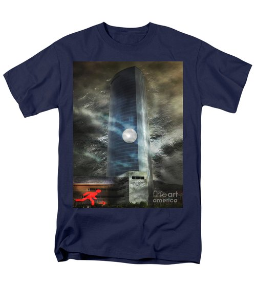 Men's T-Shirt  (Regular Fit) featuring the digital art Nightmare Tower by Rosa Cobos