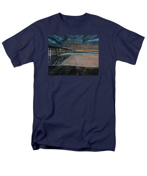 Men's T-Shirt  (Regular Fit) featuring the painting North Side Of The Ventura Pier by Ian Donley