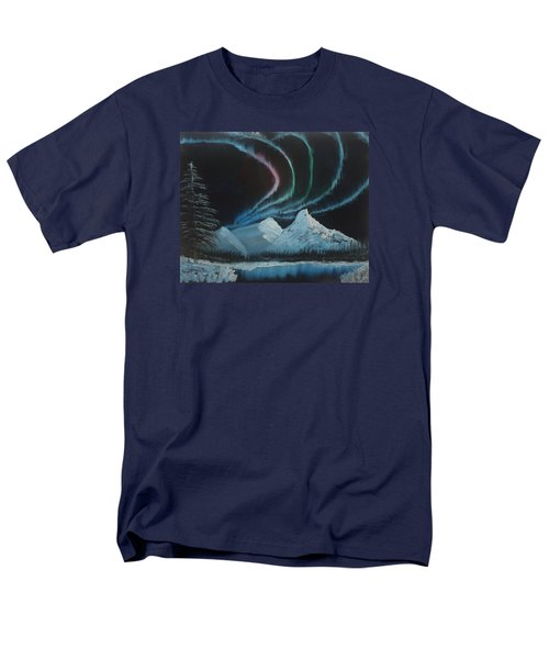 Men's T-Shirt  (Regular Fit) featuring the painting Northern Lights by Ian Donley