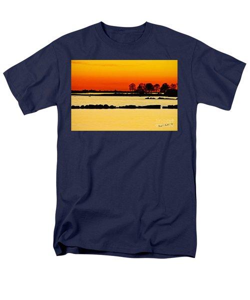 Orange Sunset Men's T-Shirt  (Regular Fit) by Carol F Austin