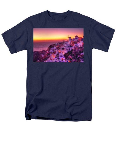 Oia Sunset Men's T-Shirt  (Regular Fit) by Midori Chan