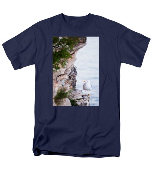 On The Cliffs Of Rocca Di Manerba Men's T-Shirt  (Regular Fit) by Simona Ghidini