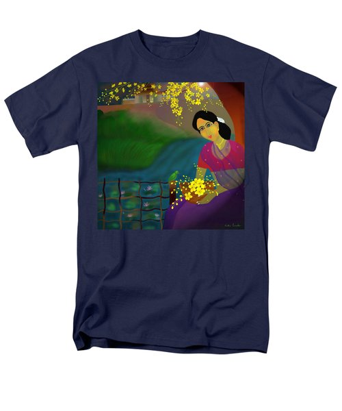 Men's T-Shirt  (Regular Fit) featuring the digital art On The Eve Of Golden Shower Festival by Latha Gokuldas Panicker