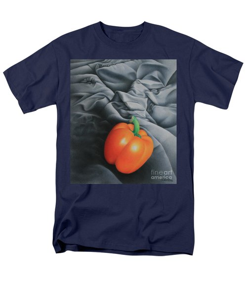Men's T-Shirt  (Regular Fit) featuring the painting Only Orange by Pamela Clements