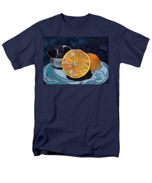 Men's T-Shirt  (Regular Fit) featuring the painting Orange And Silver by Barbara Jewell