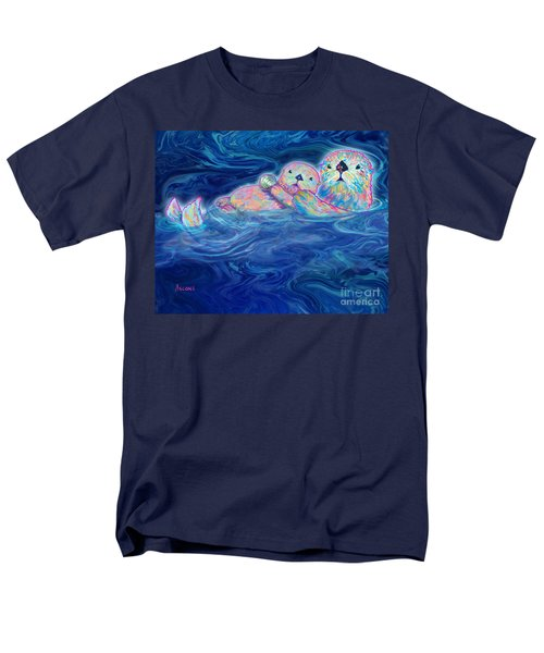 Men's T-Shirt  (Regular Fit) featuring the mixed media Otter Family by Teresa Ascone