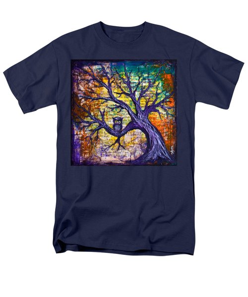 Men's T-Shirt  (Regular Fit) featuring the painting Wisdom Of Gratitude by Agata Lindquist
