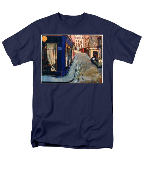 Men's T-Shirt  (Regular Fit) featuring the painting Paris Cityscape by Walter Casaravilla