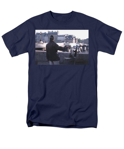 Men's T-Shirt  (Regular Fit) featuring the photograph Paris Painter Inspiration Magritte by Tom Wurl
