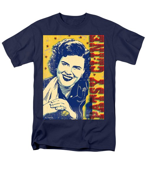 Patsy Cline Pop Art Men's T-Shirt  (Regular Fit) by Jim Zahniser