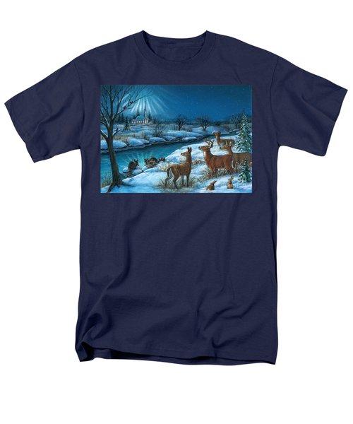 Peaceful Winters Night Men's T-Shirt  (Regular Fit)