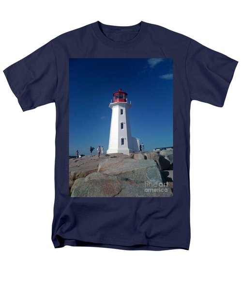 Peggy's Cove Lighthouse Men's T-Shirt  (Regular Fit) by Brenda Brown