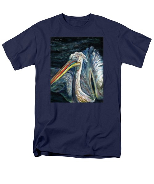 Men's T-Shirt  (Regular Fit) featuring the painting Pelican by Xueling Zou