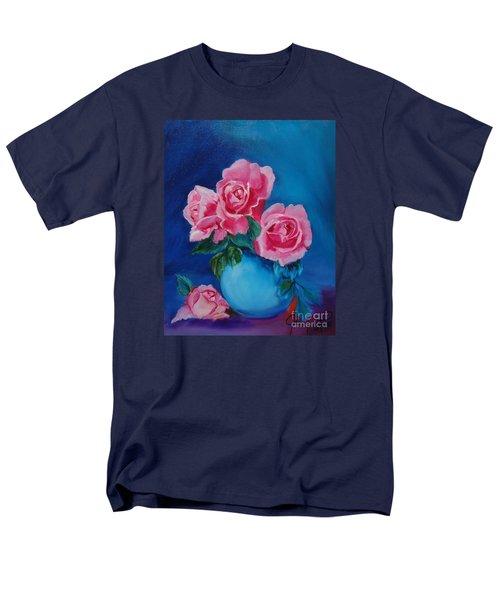 Pink Roses Men's T-Shirt  (Regular Fit) by Jenny Lee