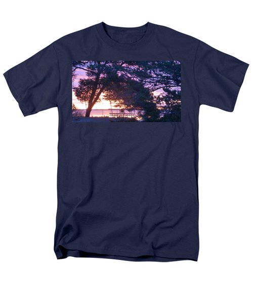 Men's T-Shirt  (Regular Fit) featuring the photograph Pink Sunrise by Rogerio Mariani