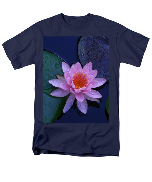 Men's T-Shirt  (Regular Fit) featuring the photograph Pink Waterlily by Raymond Salani III