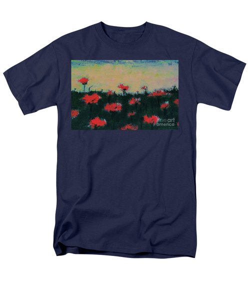 Men's T-Shirt  (Regular Fit) featuring the painting Poppy Field by Jacqueline McReynolds