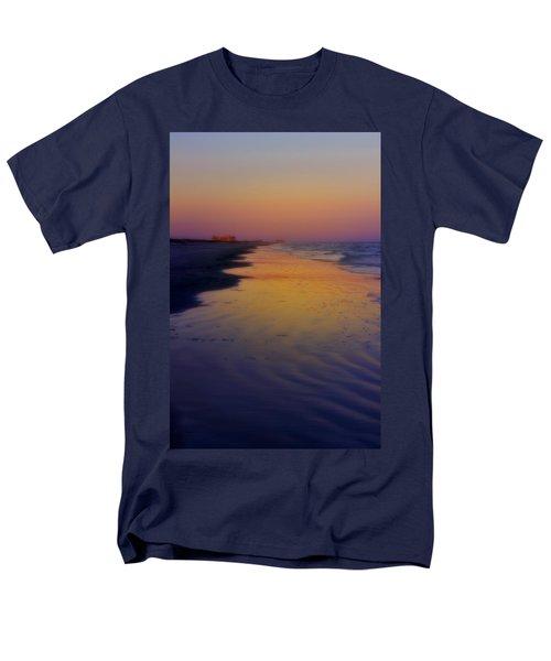 Men's T-Shirt  (Regular Fit) featuring the photograph Port Aransas Sunset by Ellen Heaverlo