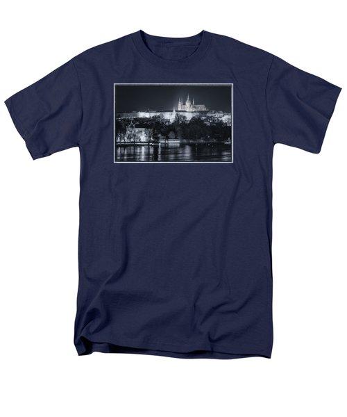 Prague Castle At Night Men's T-Shirt  (Regular Fit) by Joan Carroll