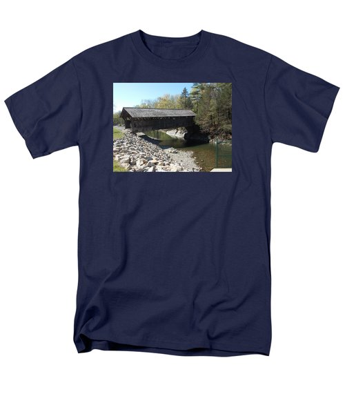 Pumping Station Covered Bridge Men's T-Shirt  (Regular Fit) by Catherine Gagne