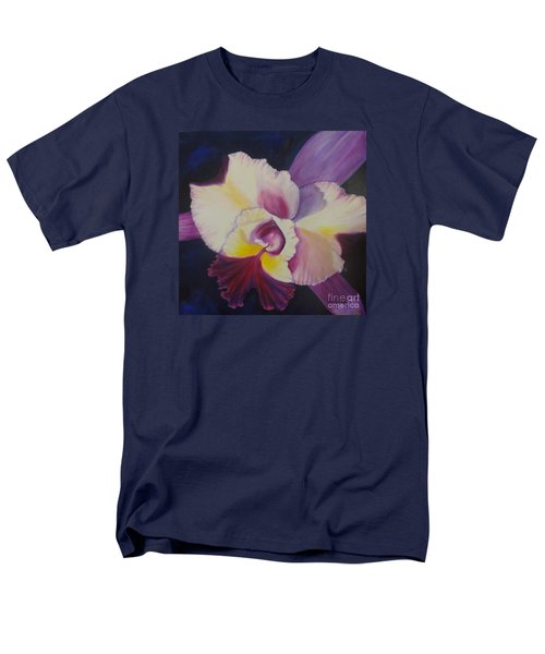 Men's T-Shirt  (Regular Fit) featuring the painting Purple Orchid by Jenny Lee