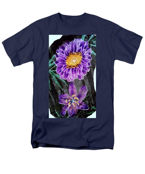 Men's T-Shirt  (Regular Fit) featuring the photograph Purple Silk by Fortunate Findings Shirley Dickerson