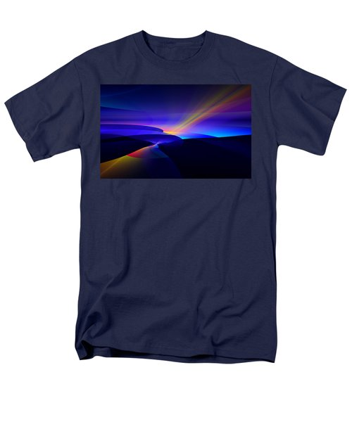 Men's T-Shirt  (Regular Fit) featuring the digital art Rainbow Pathway by GJ Blackman