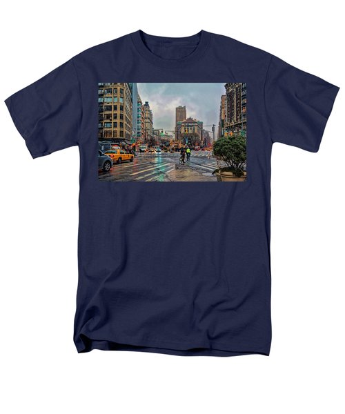 X-ing Broadway Men's T-Shirt  (Regular Fit) by Jeffrey Friedkin