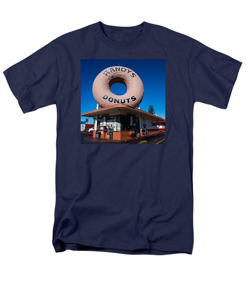 Randy's Donuts Men's T-Shirt  (Regular Fit) by Stephen Stookey