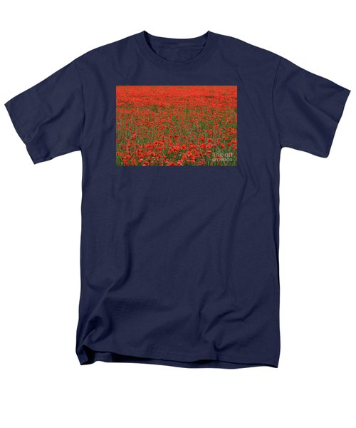 Red Field Men's T-Shirt  (Regular Fit) by Simona Ghidini